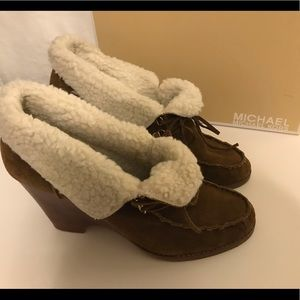 Michael Kors wedge booties Size 10